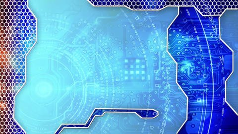 abstract technology circuit board loop background Animation