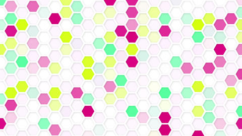 honeycomb mosaic loop background Animation