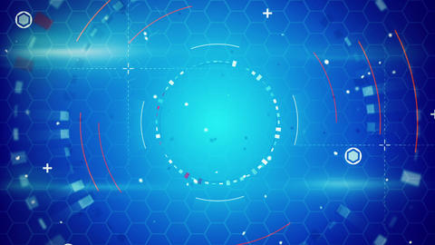 blue abstract techno loopable background Animation