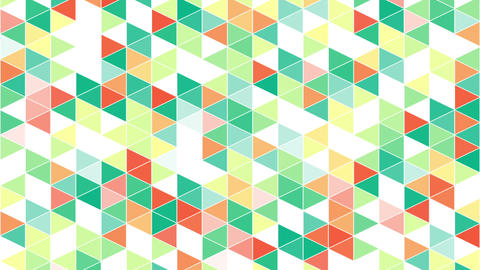 colorful triangles geometric background loop Animation