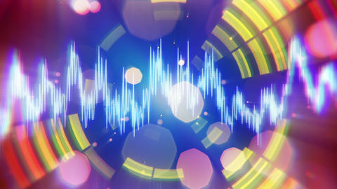 Audio Waveform Equalizer Pulsating Loopable Backgr stock footage
