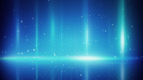 blue light stripes and particles loopable backgrou Animation