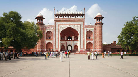 Gateway entrance to the Taj Mahal, UNESCO World He Footage