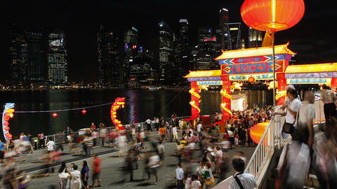 River Hongbao decorations for Chinese New Year cel Footage