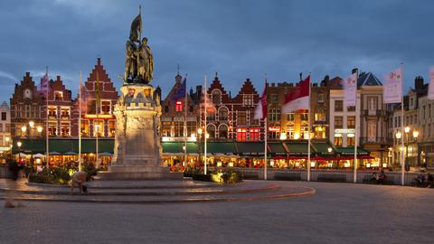 Belgium, Flanders, Brugges, Time Lapse, UNESCO Wor stock footage