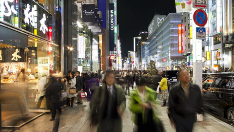 T/L Chuo-dori, the most fashionable shopping stree Footage
