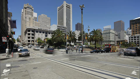 The Powell Cable Car Turnaround in San Francisco,  Footage