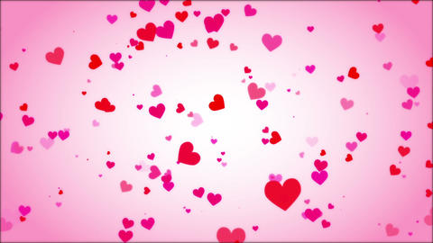 Loopable Shooting Heart Pink HD stock footage