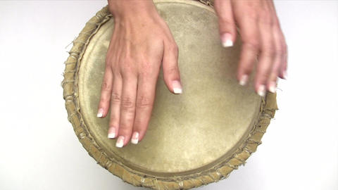 Beating The Drum stock footage