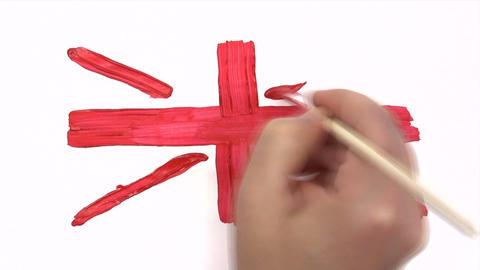 Painting Union Jack - Time Lapse Footage