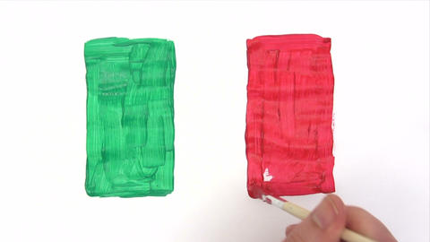 Painting Italian Flag - Time Lapse Footage