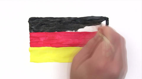 Painting German Flag - Time Lapse Footage