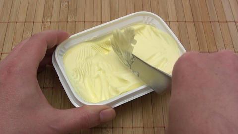 Margarine stock footage
