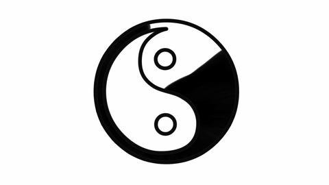 Yin Yang Symbol Animation