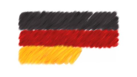 German Flag CG動画素材