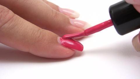 Painting Fingernails Footage