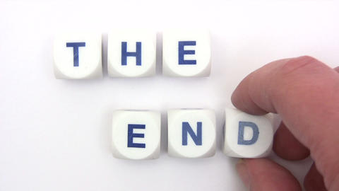 The End Dice stock footage