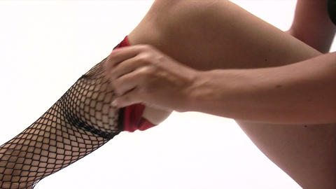 Fish Net Stockings Footage