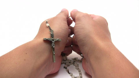 Praying the Rosary Footage