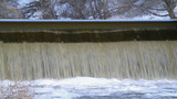 Water Dumping On Hydroelectric Power Station In Th stock footage