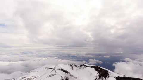 Crater Mount Etna. Sicily, Italy. Time Lapse. 1280 Footage