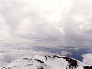 Crater Mount Etna. Sicily, Italy. Time Lapse. 320x Footage