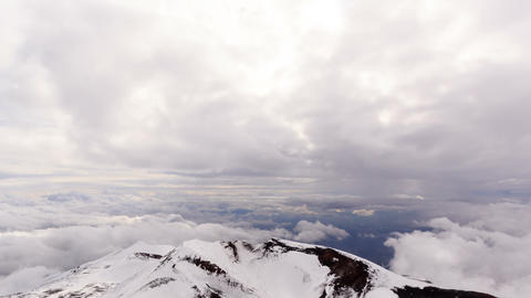 Clouds over Italy, with views of Mount Etna. Sicil Footage