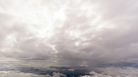 Between clouds. Sicily, Italy. Time Lapse Footage