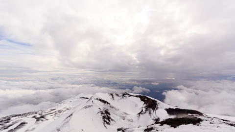 View from Mount Etna. Sicily, Italy. Time Lapse .  Footage