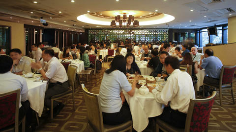 Restaurant Interior, Wanchai, Hong Kong, China stock footage