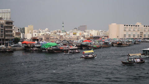 Dubai Creek, Khor Dubai, Dhow Wharfage and commerc Footage