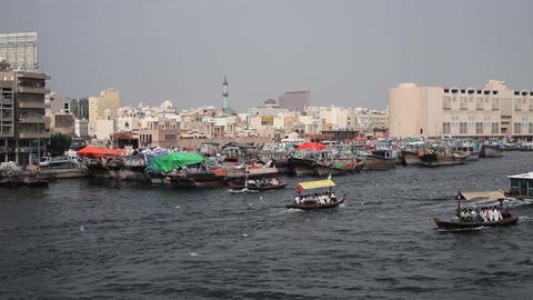 Dubai Creek, Khor Dubai, Dhow Wharfage and commerc Footage