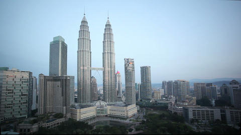 Kuala Lumpur City Centre urban development which i Footage
