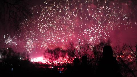 Pyongyang, huge firework display to celebrate the  Footage