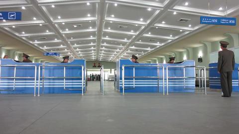 Pyongyang, Pyongyang International airport arrival Footage