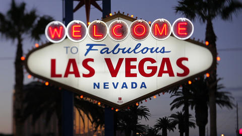 Las Vegas, Welcome to Las Vegas sign, Nevada, Unit Footage