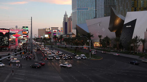 Las Vegas, The Strip at night, Nevada, United Stat Footage