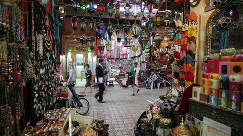 In the Souk, Marrakech, Morocco, North Africa, Afr Live Action