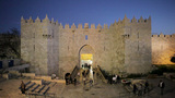Jerusalem, The Old City, Damascus Gate, Israel, Mi Footage