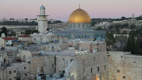Old City, Dome Of The Rock, Jewish Quarter Of The  stock footage