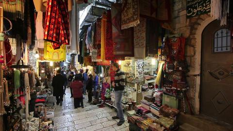 Jerusalem, David Street (Suq El Bazar), covered ma Footage
