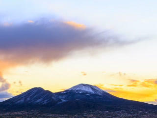 Vesuvius at sunrise. Time Lapse. 320x240 Live Action