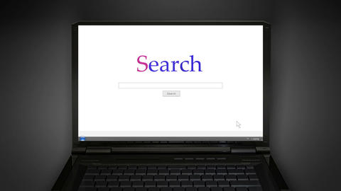 notebook simple search screen Animation