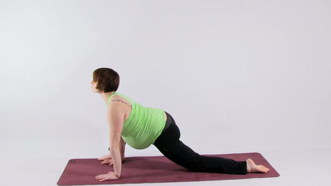 Yoga For Pregnant Woman stock footage