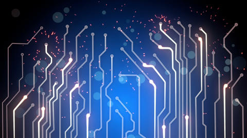 blue computer board loopable background Animation
