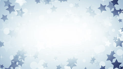 blue stars frame loop background Animation