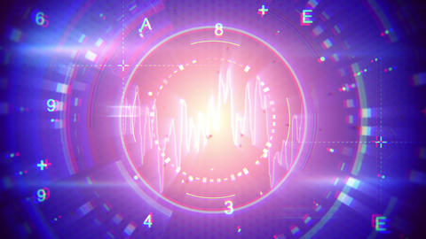 abstract techno loopable background Animation