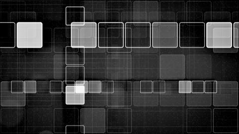 black and white squares abstract loopable backgrou Animation