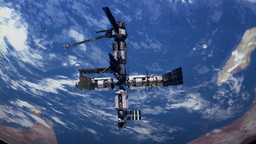 Orbiting Space Station stock footage