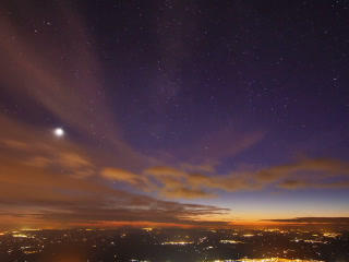 Sunset And The Milky Way Over Sicily. Time Lapse.  stock footage